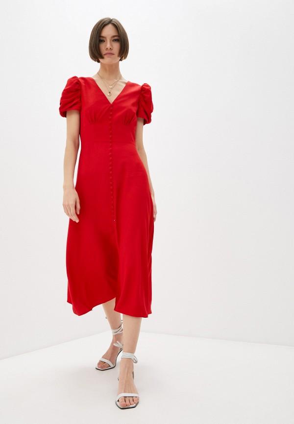 женское повседневные платье saloni, красное