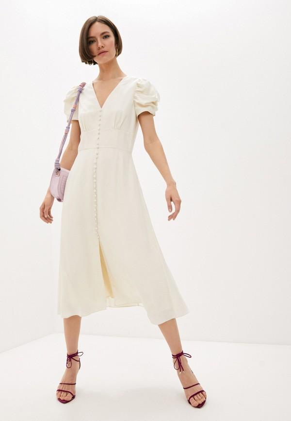 женское платье saloni, бежевое