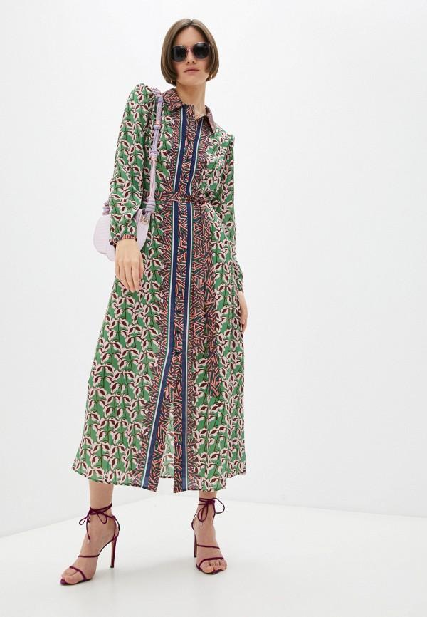женское повседневные платье saloni, зеленое