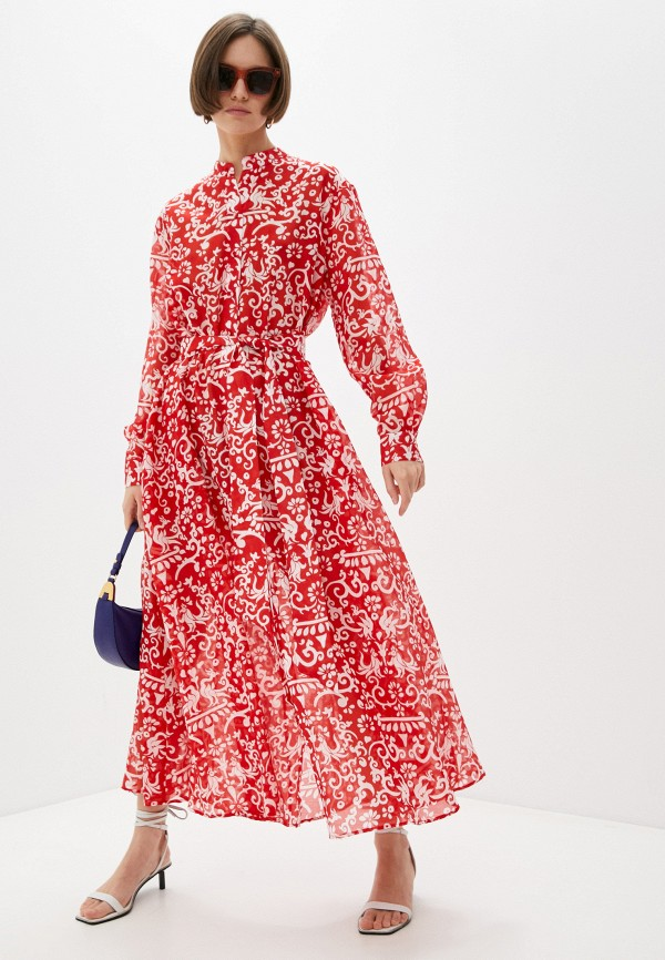 женское платье-рубашки saloni, красное