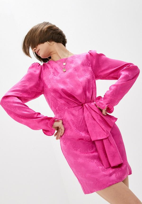 женское вечерние платье saloni, оранжевое