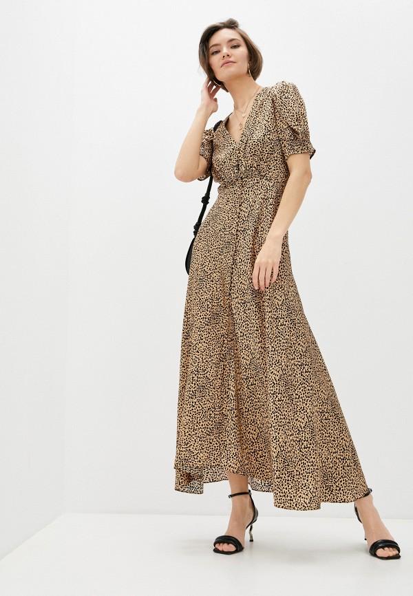 женское повседневные платье saloni, бежевое