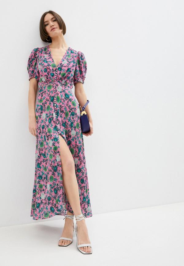 женское повседневные платье saloni, розовое
