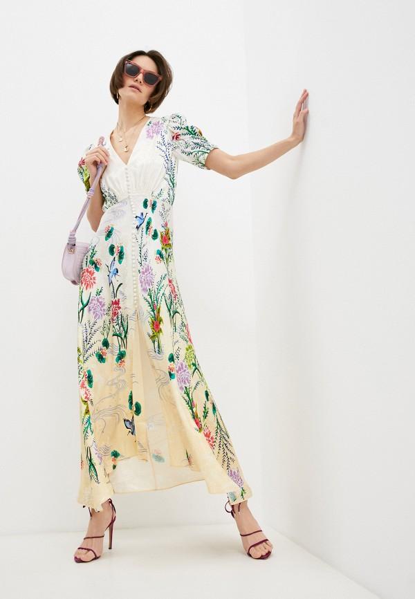 женское повседневные платье saloni, белое