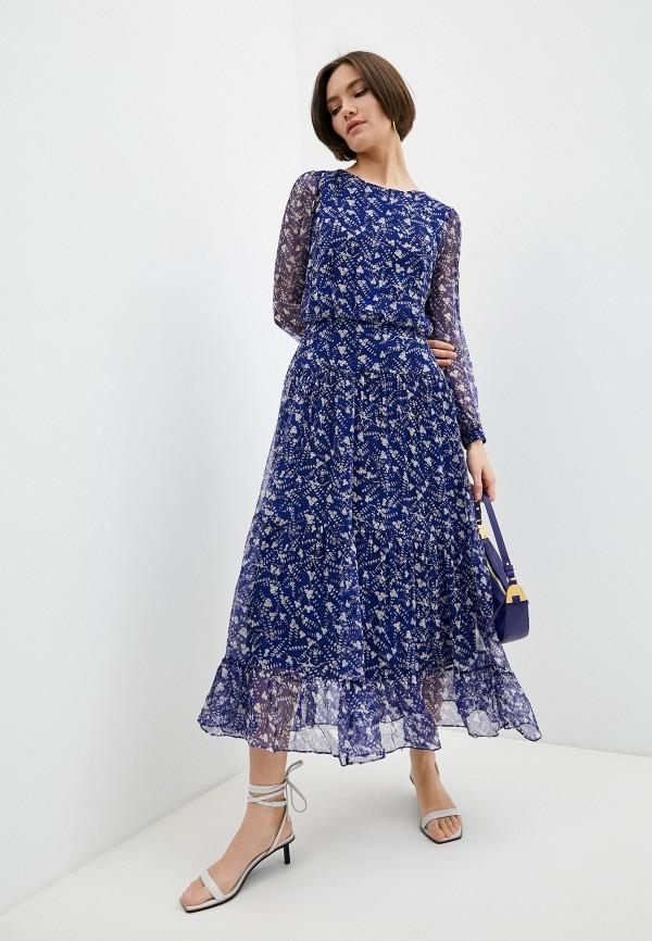 женское повседневные платье saloni, синее
