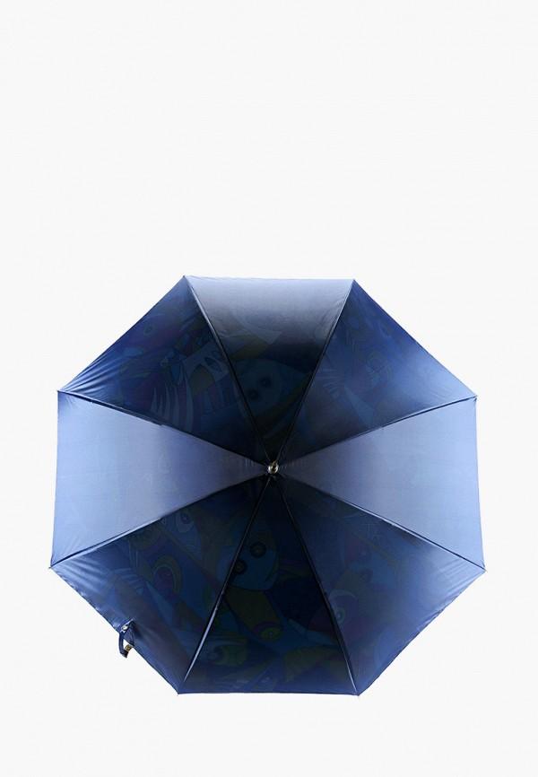 женский зонт-трости fabretti, синий