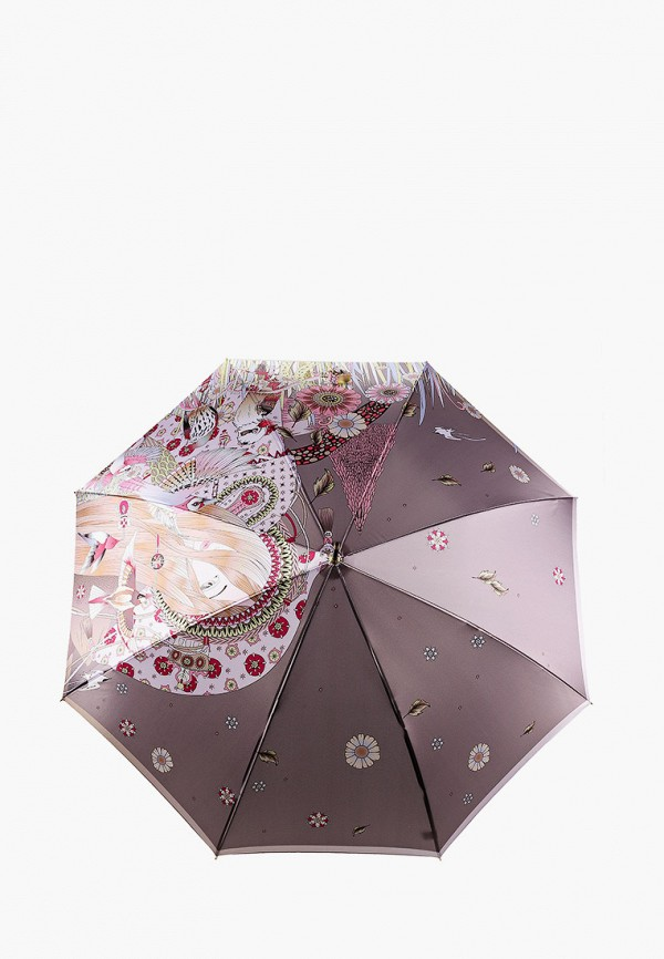 женский зонт-трости fabretti, разноцветный