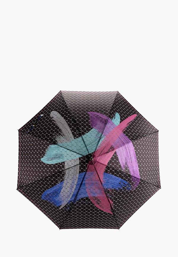 женский зонт-трости fabretti, черный