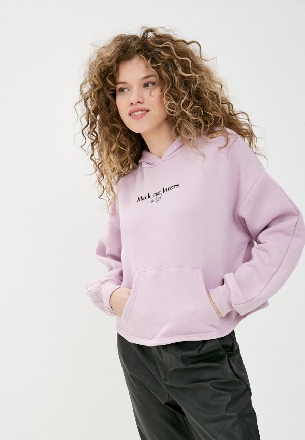 женские худи pink woman, фиолетовые