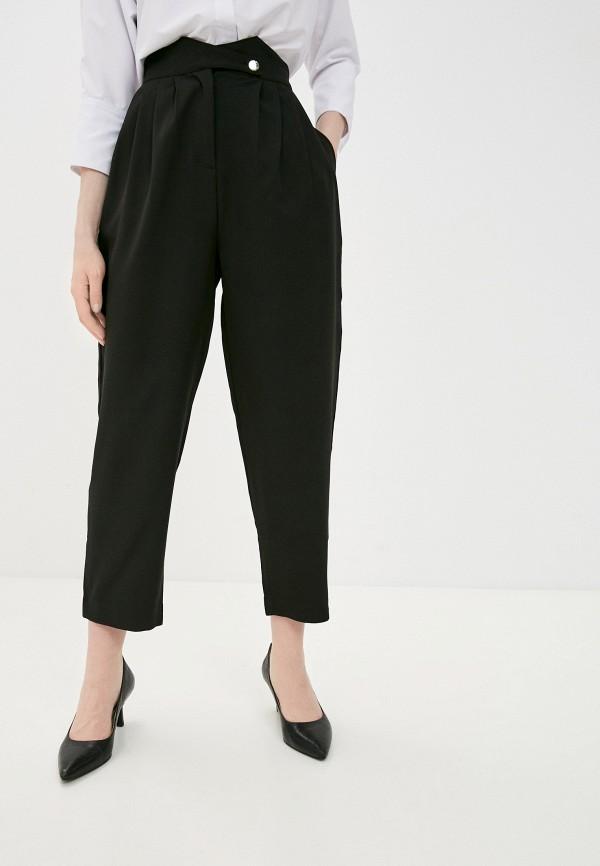 женские повседневные брюки pink woman, черные
