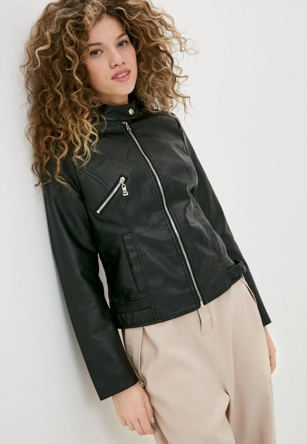 женская кожаные куртка pink woman, черная
