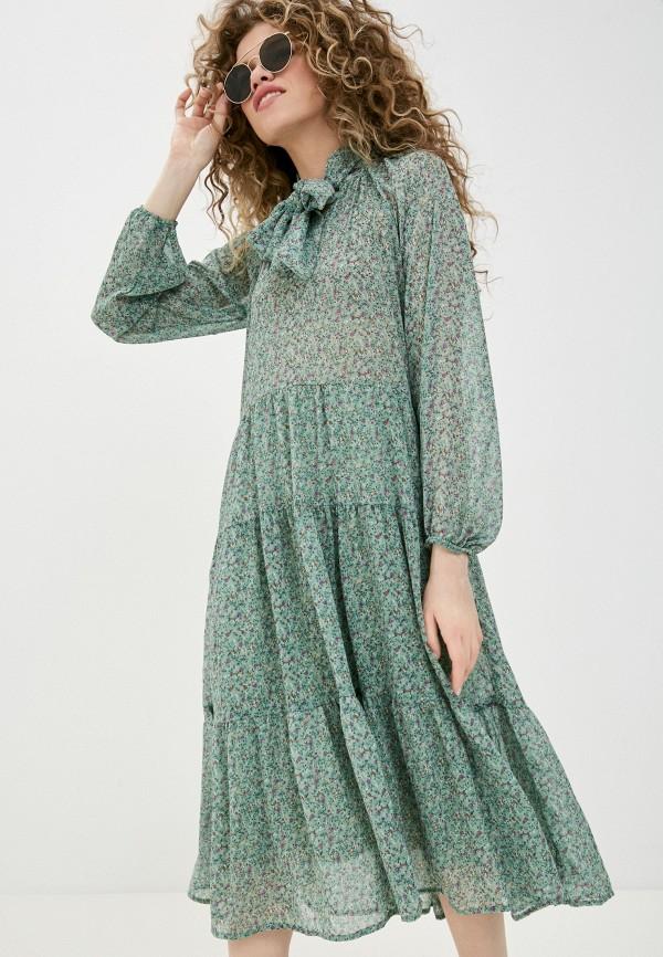 женское повседневные платье pink woman, зеленое