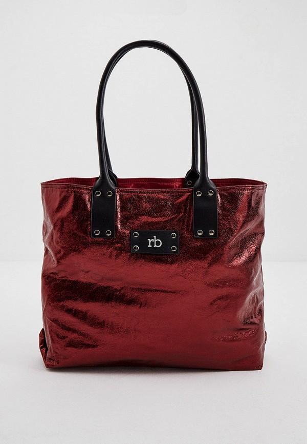 женская сумка-шоперы roccobarocco, бордовая