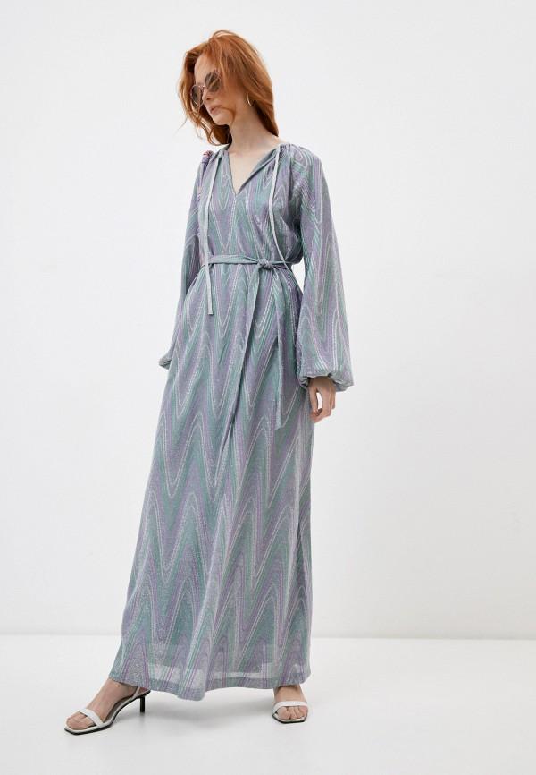 женское вечерние платье m missoni, разноцветное