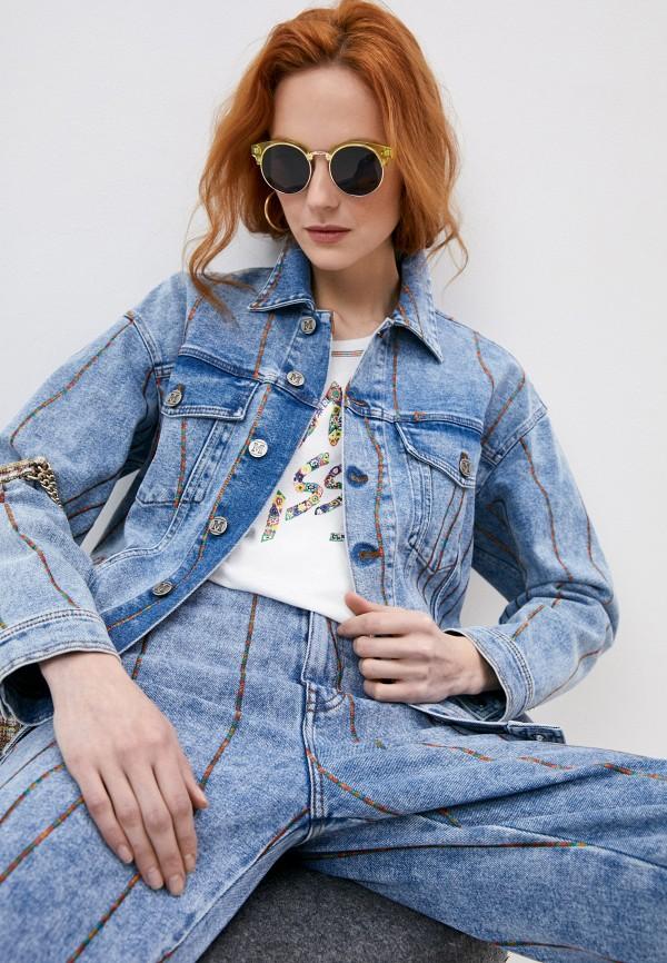 женская джинсовые куртка m missoni, голубая