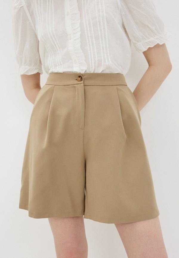 женские повседневные шорты trendyol, бежевые