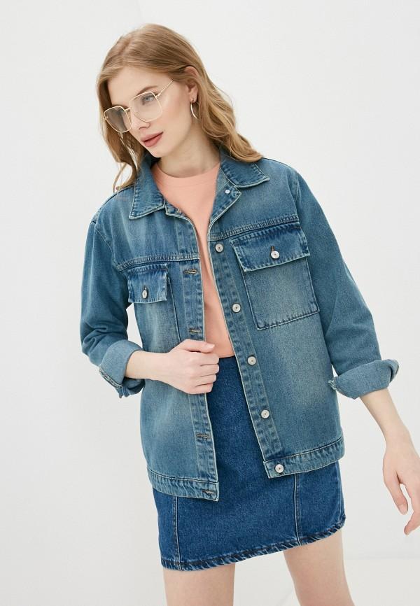 женская джинсовые куртка trendyol, синяя