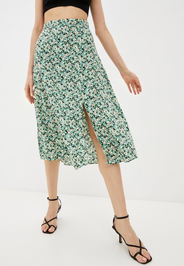 женская юбка trendyol, зеленая