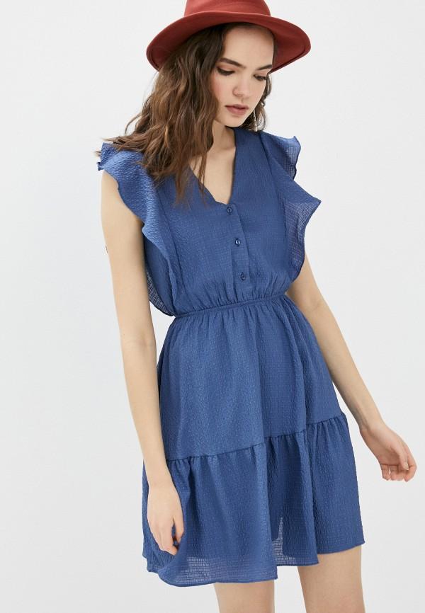 женское повседневные платье trendyol, синее