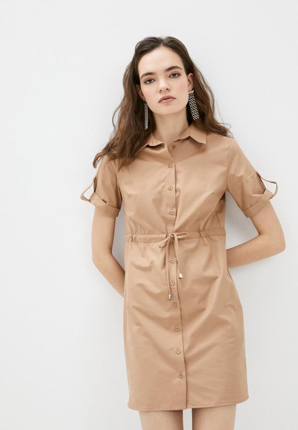 женское платье trendyol, коричневое