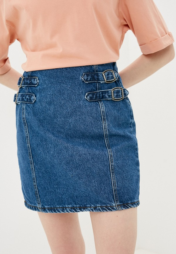 женская джинсовые юбка trendyol, синяя