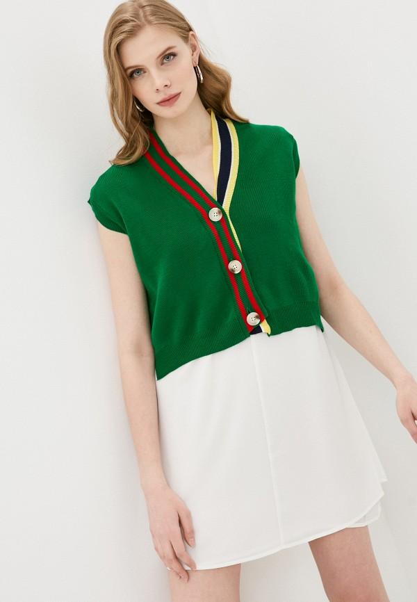 женский жилет trendyol, зеленый