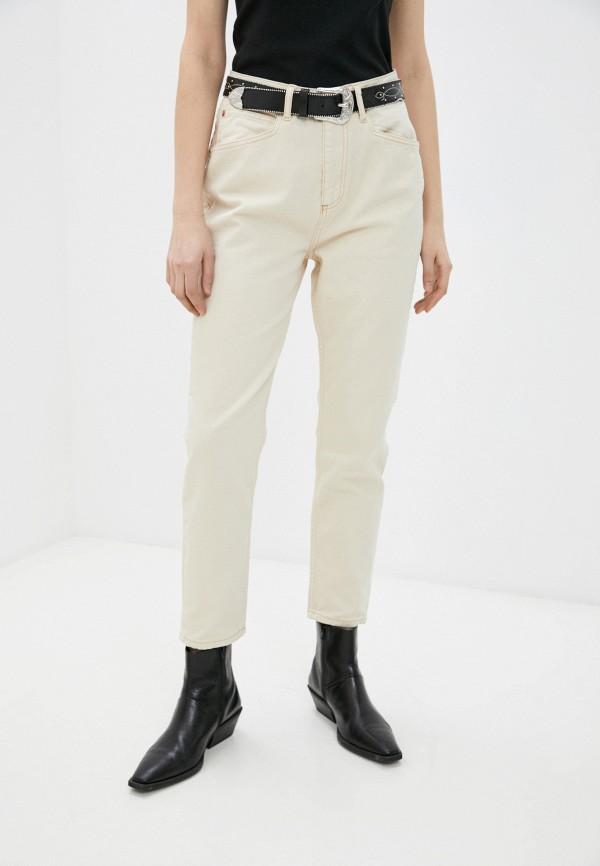 женские повседневные брюки trendyol, бежевые