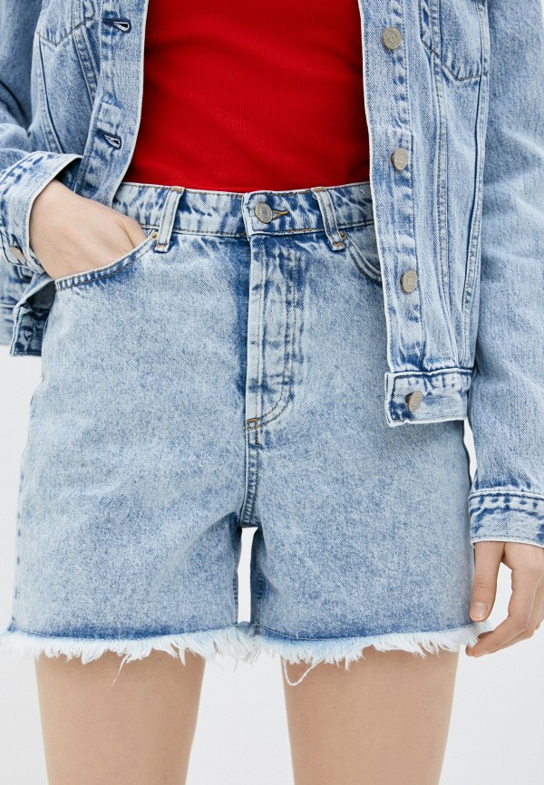 женские джинсовые шорты trendyol, голубые