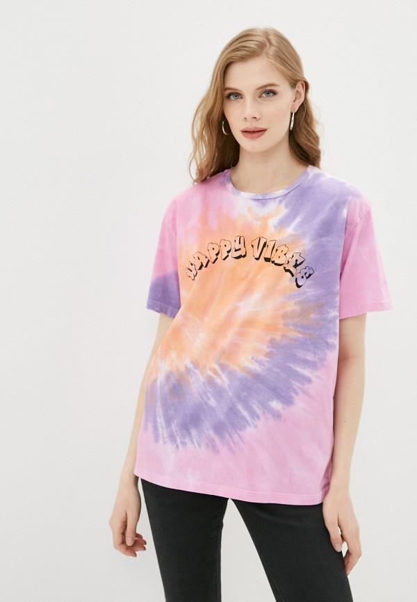 женская футболка trendyol, разноцветная