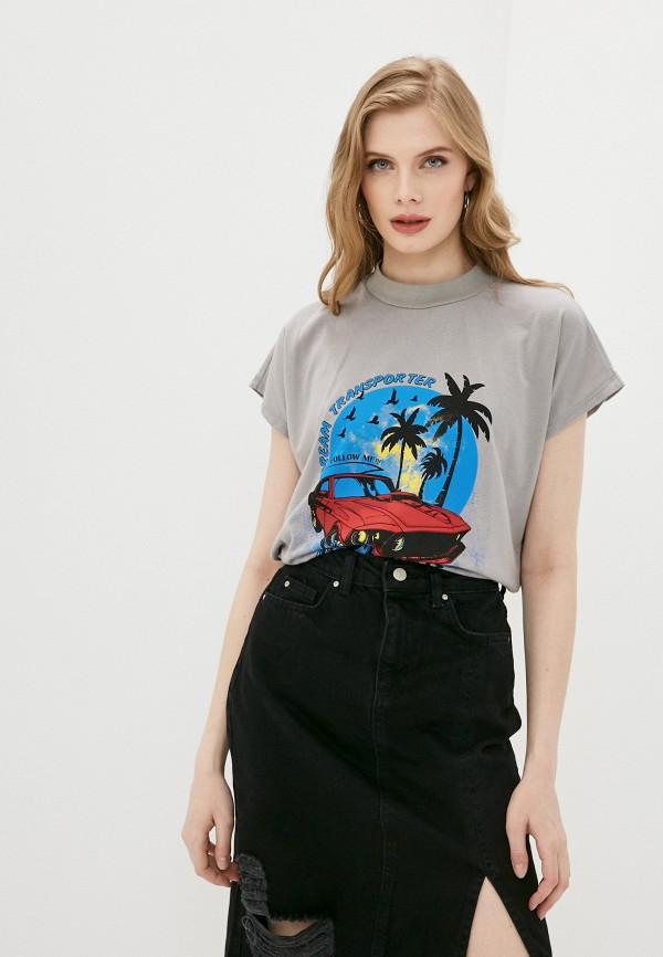 женская футболка trendyol, серая