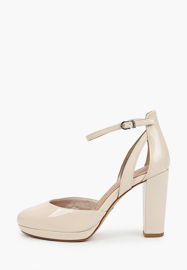 женские туфли tamaris, бежевые