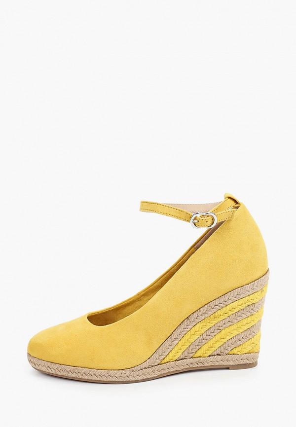 женские туфли tamaris, желтые
