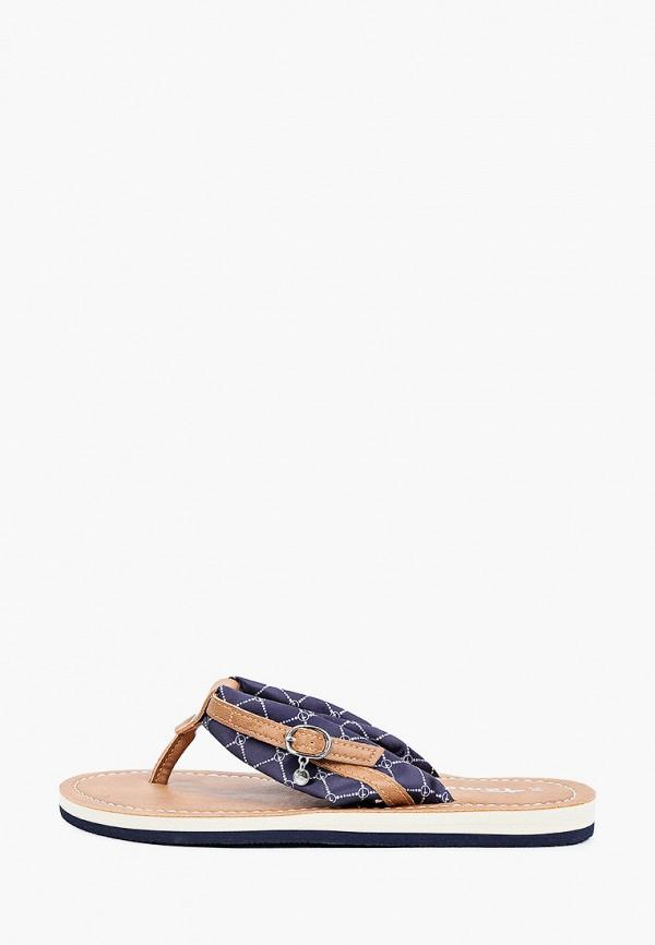 женское сабо tamaris, синее