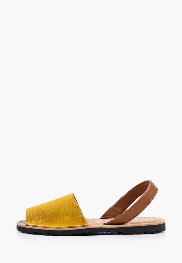женские сандалии tamaris, желтые