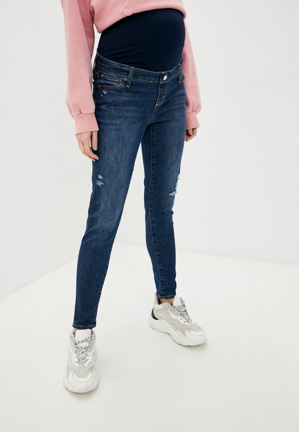 женские джинсы скинни gap maternity, синие