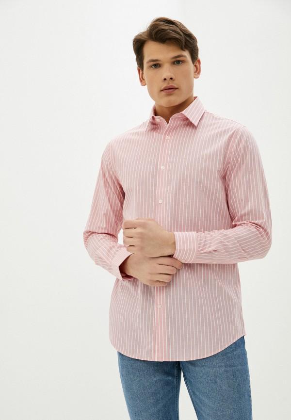 мужская рубашка с длинным рукавом banana republic, розовая