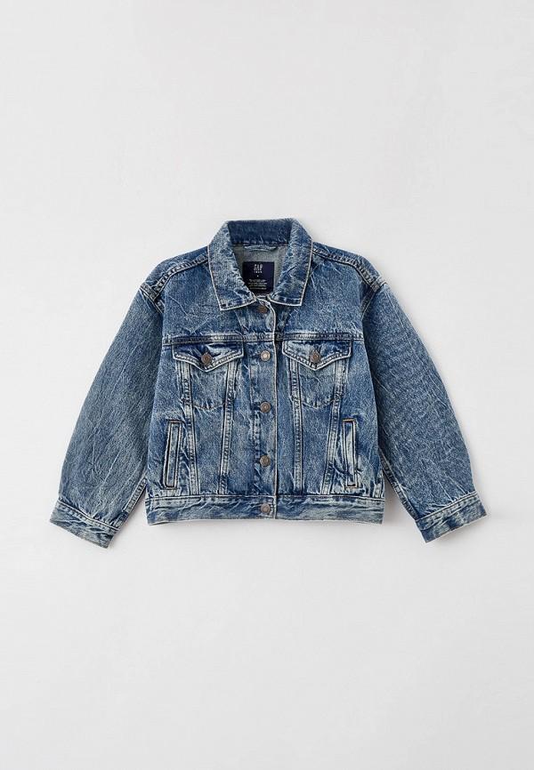 джинсовые куртка gap для девочки, синяя