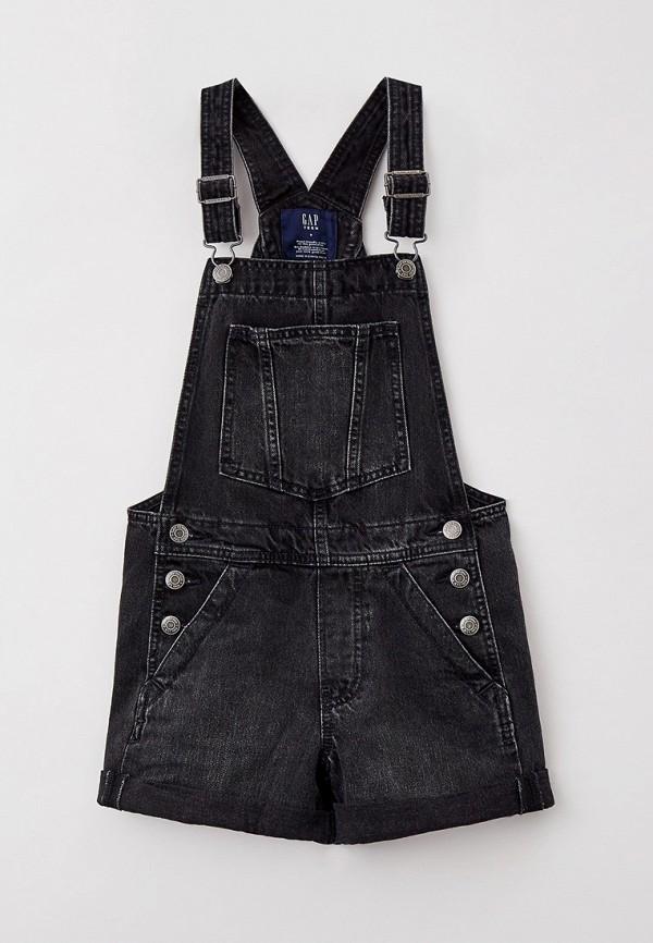 джинсовые комбинезон gap для девочки, черный