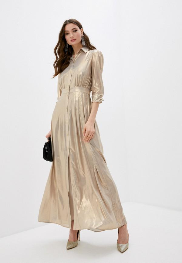 женское вечерние платье pinko, золотое
