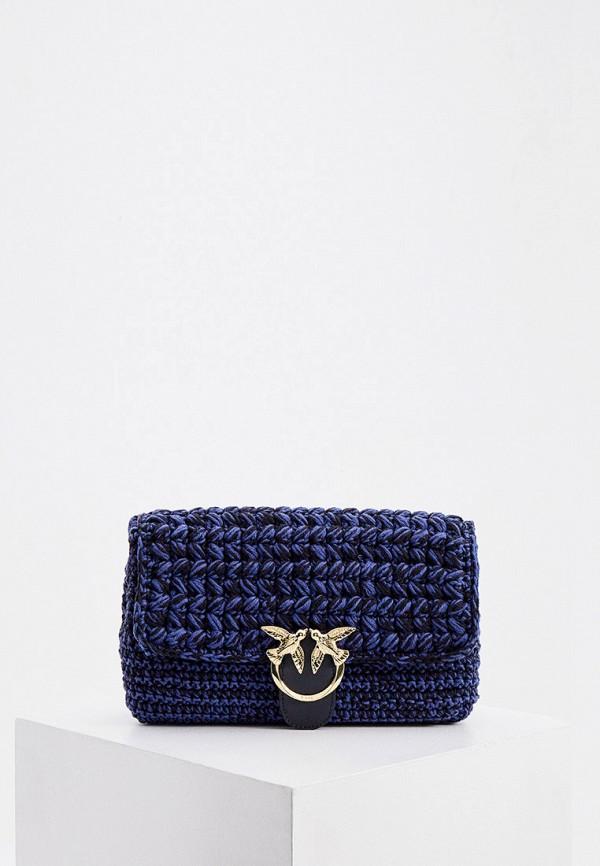 женская сумка pinko, синяя