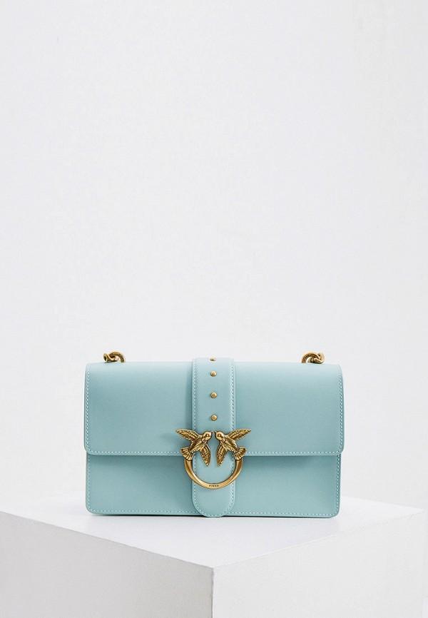 женская сумка pinko, бирюзовая