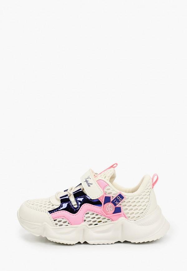 кроссовки kapika для девочки, бежевые