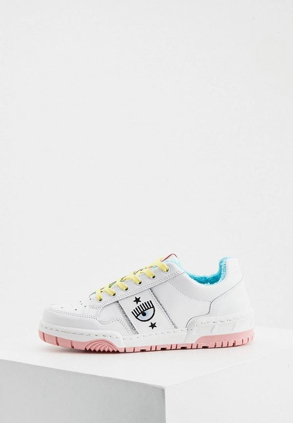 женские кроссовки chiara ferragni, белые