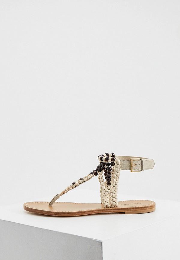 женские сандалии alberta ferretti, бежевые