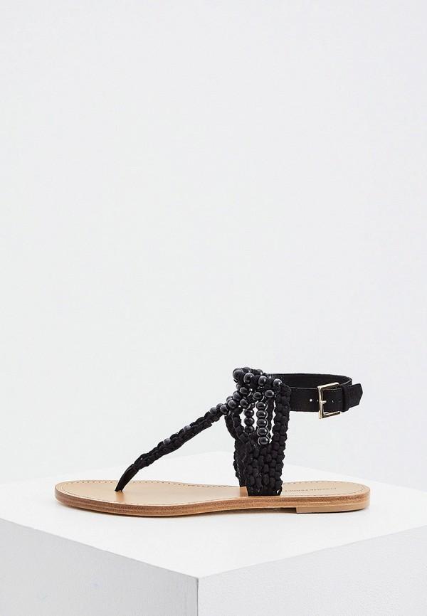 женские сандалии alberta ferretti, черные