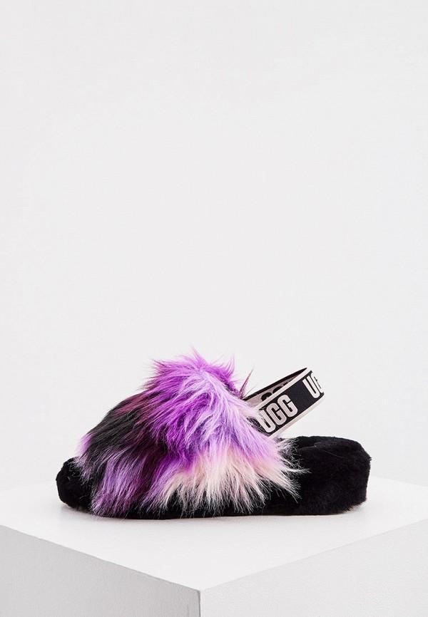 женские босоножки ugg, фиолетовые