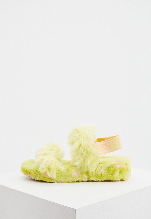 женские босоножки ugg, зеленые