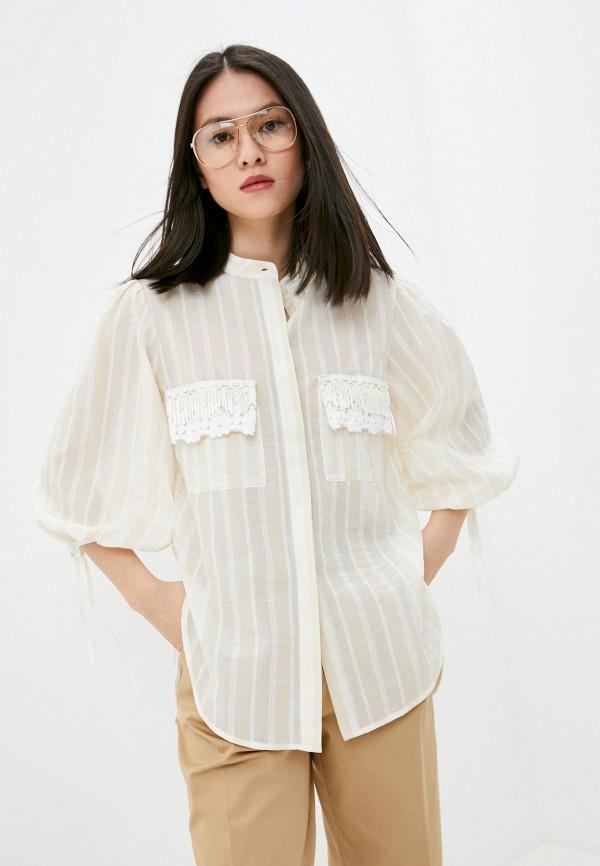 женская блузка beatrice.b, бежевая