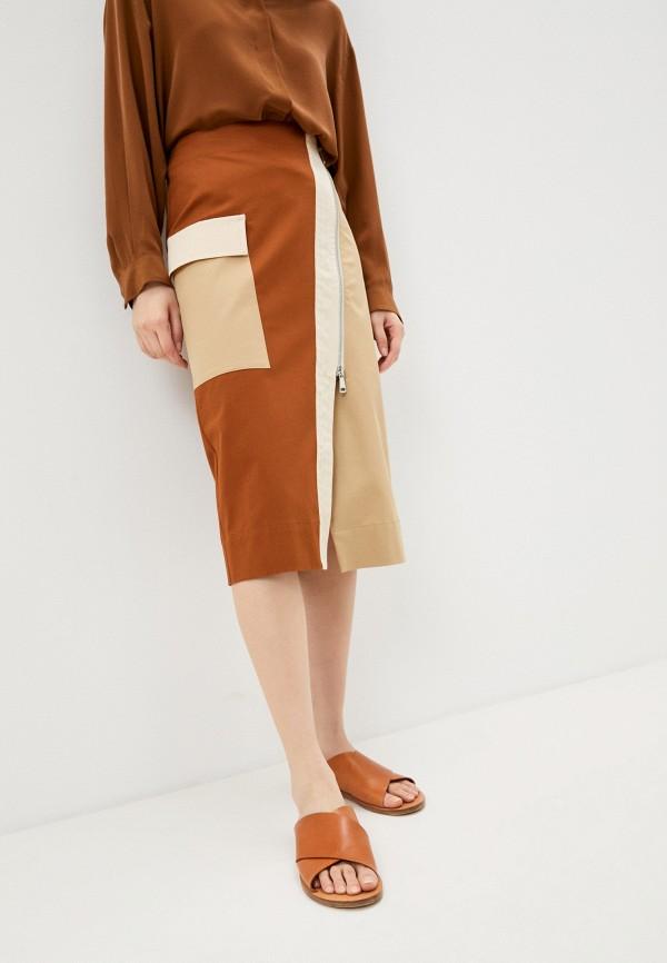 женская прямые юбка beatrice.b, коричневая