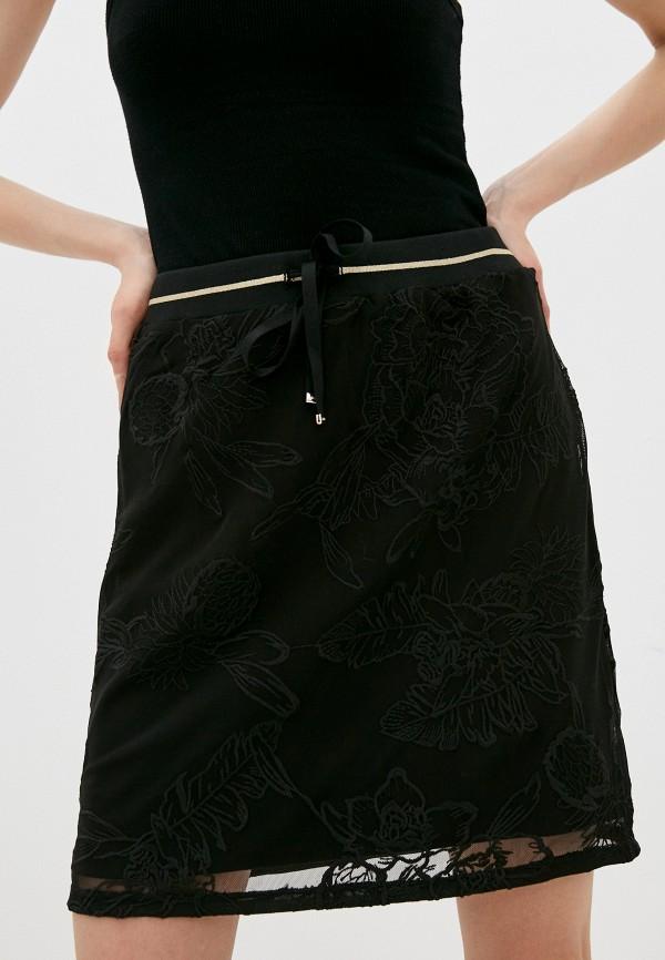 женская прямые юбка liu jo sport, черная